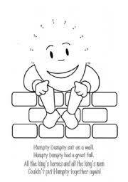 english teaching worksheets humpty dumpty