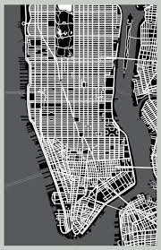 manhattan on map wall poster manhattan