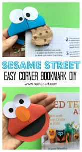 paper cookie monster bookmark corner diy red ted art u0027s blog