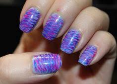 fan brush nail art using revlon plum night and george lavender