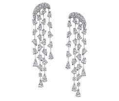 diamond earrings price cascade earrings in 18k white gold with diamonds by butani price