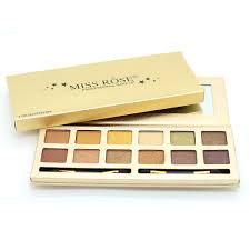 miss rose brand makeup 12 colors eyeshadow palette luxury golden