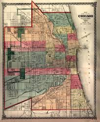 Map Chicago by Chicago Il 1875 Warner U0026 Beers Publishers Environment Mgmt