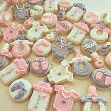 pink and gray baby shower mini pink and grey baby shower cookies hayley cakes and cookies