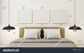 Simple Interior Design Bedroom For Simple Bedroom Mock Interior 3d Render Stock Illustration