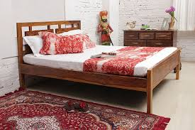 compact queen bed two a compact sheesham wood queen bed