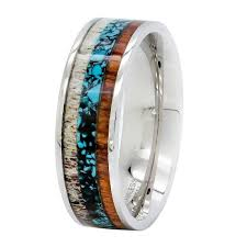 deer antler wedding band cheap wedding rings for men kingswayjewelry