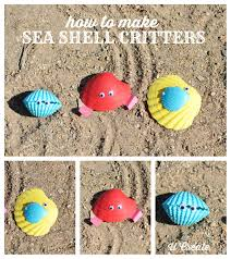how to make sea shell critters fun kid craft for the summer or