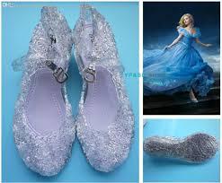 wholesale cinderella summer jelly shoes girls sandals fancy dress