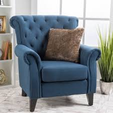 Blue Leather Armchair Blue Living Room Chairs Shop The Best Deals For Nov 2017