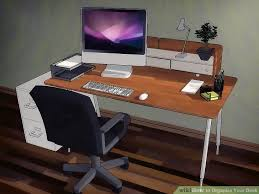 Organize Office Desk How To Organize Your Desk 13 Steps With Pictures Wikihow