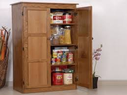 tall cabinet doors shelves oak kitchen pantry storage cabinet
