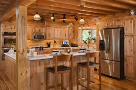 lovely cabin kitchen design decoration for diy home interior ideas