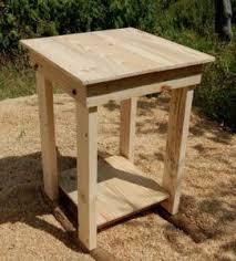 diy pallet nightstand side table end table pallet furniture plans