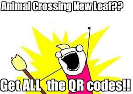 Meme Qr Code - meme maker get all the qr codes animal crossing new leaf