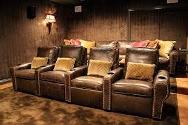 nailhead trim leather recliner houzz