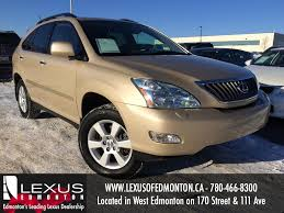lexus rx 350 for sale 2009 used gold 2009 lexus rx 350 4wd review drumheller alberta youtube