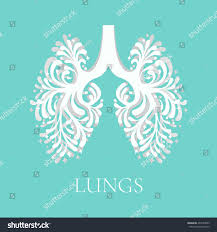 vector illustration lungs made ornamental style stock vector
