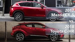2017 mazda cx 5 vs 2018 toyota c hr technical comparison youtube