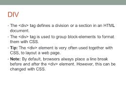 html div tag div span css ppt