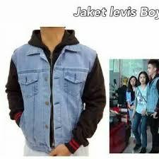 Baju Levis Biru jaket levis si boy biru muda toko baju grosir
