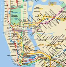 map of new york subway map of new york subway major tourist attractions maps