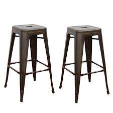 Tolix Bar Table Joveco 30 Inches Sheet Metal Frame Tolix Style Bar Stool Set Of