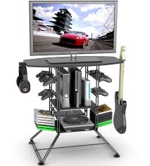 desks for gaming consoles gaming desks stands and video game storage organize it