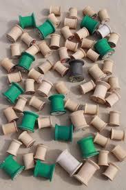 ribbon spools vintage thread floss ribbon spools lot wood green