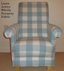 Check Armchair Laura Ashley Whitby Check Seaspray Blue Fabric Chair Armchair