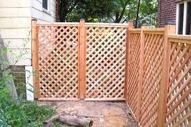 wood lattice wall potomac fences lattice