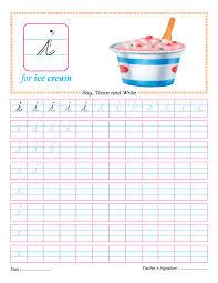 cursive small letter i practice worksheet download free cursive