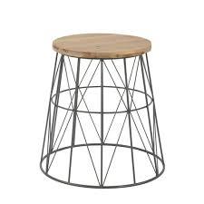 table bout de canap bout de canapé en métal gris maisons du monde 39 99 furniture