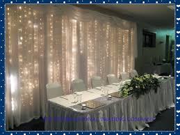 wedding backdrop buy 3m x 3m white silk wedding backdrop with led light wedding curtain