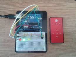 arduino ir remote to leds on and