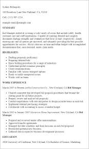 Purchasing Manager Resume Sample by Professional Bid Manager Templates To Showcase Your Talent