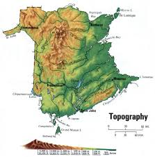 New Mexico Topographic Map by New Brunswick Topographic Map