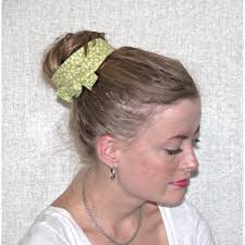 retro headbands green with white floral retro inspired wired headband