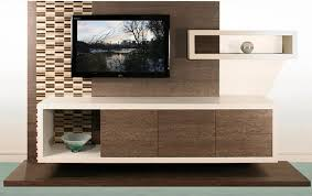 furniture contemporary white floating media cabinet under wall