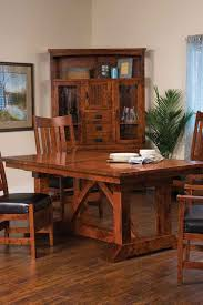Amish Dining Room Furniture by Amish Made Trestle Tables Amish Custom Furniture