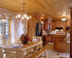 Log Dining Room Table by Golden Eagle Log Homes Log Home Cabin Pictures Photos Custom