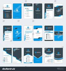 set modern vertical business card print stock vector 629607221