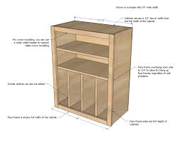 ana white build a wall kitchen cabinet basic carcass plan free