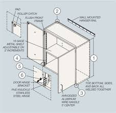 wall cabinets for labs modular glass steel doors made in usa