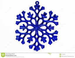 blue snowflake ornament isolated on a white background stock