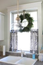 Fabric For Kitchen Curtains No Sew Cafe Curtains Diy U0026 Crafts Pinterest Cafe Curtains