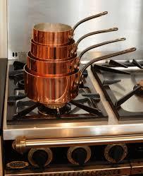 batterie de cuisine en cuivre casseroles et poêles en cuivre