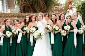 emerald green winter wedding