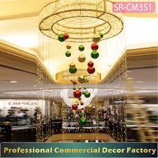 custom commercial shopping center atrium hanging ring