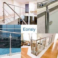 home design for terrace foshan steel pipe mounting fittings railing fixing glass brackets